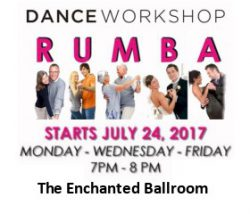 Enchanted Ballroom RUMBA 3 Day Workshop