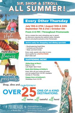 Summer Sip, Shop and Stroll at Promenade