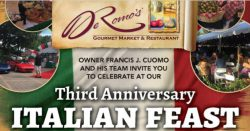 DeRomo's Third Anniversary/ Italian Feast & Fashion Show