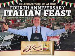 DeRomo's Fourth Anniversary Italian Feast