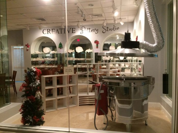 Creative Pottery Studio window