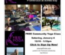 Yes! Yoga Free class flyer