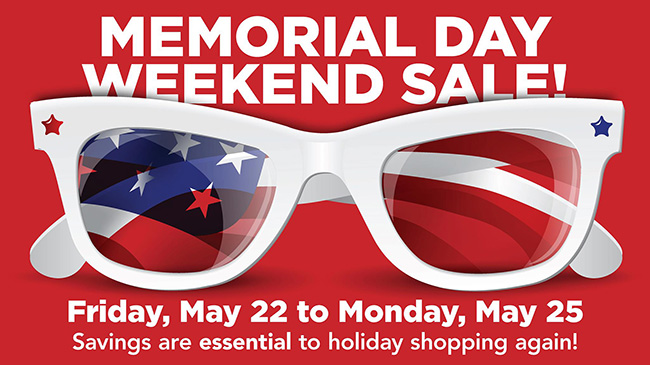 Memorial Day Weekend Sidewalk Sale